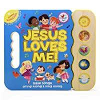 Jesus Loves Me 5-Button Songbook - Perfect Gift for Easter Baskets, Christmas, Birthdays, Baptisms, and More, Ages 2-7 (Little Sunbeams)