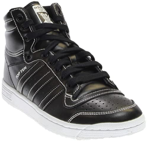 c4102371ce7f Amazon.com  adidas Mens Top Ten Hi J Athletic   Sneakers Black  Shoes