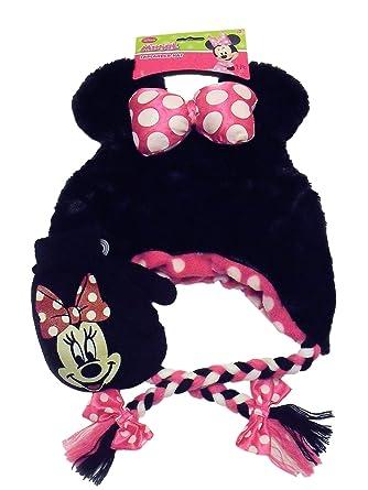 419946d1b3c Image Unavailable. Image not available for. Color  Disney Minnie Mouse Knit  Peruvian Laplander Hat Black ...