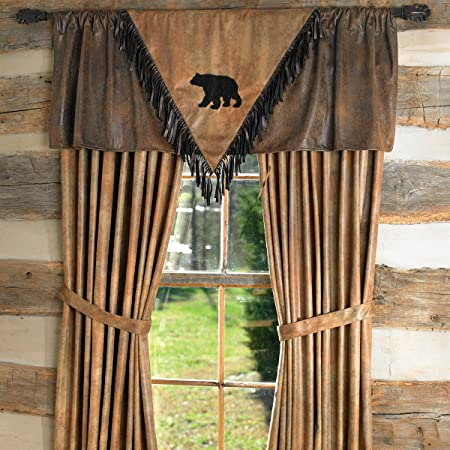 Black Forest D cor Black Bear V Valance