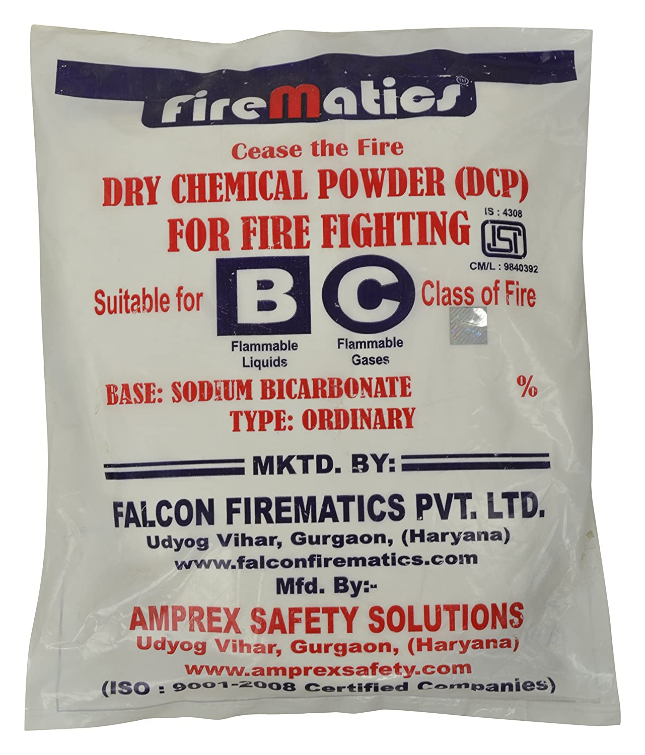 Fire Matics Powder Dry Chemical Powder BC Type ISI Marked