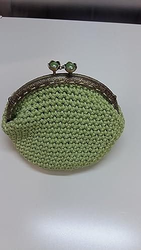 Pochette Verde Salvia Con Chiusura A Clic Clac Amazonit Handmade