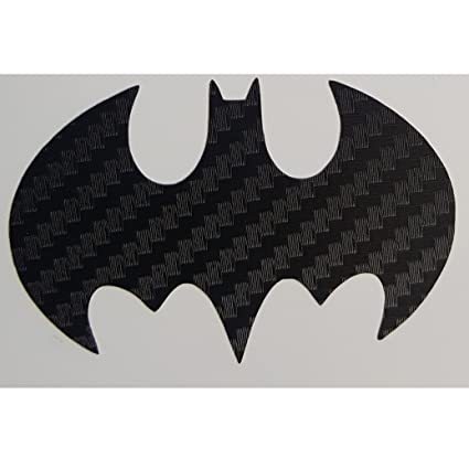Dark Knight Batman Logo Insignia Sticker Decal In Carbon Fiber Black For Truck Car