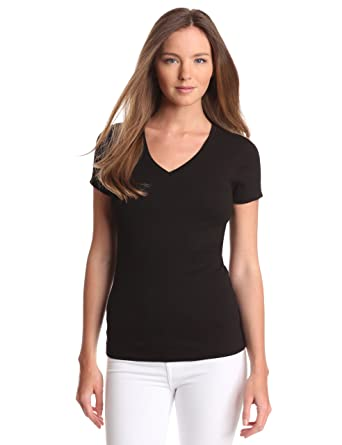 69c5ca5ac709 Amazon.com  Three Dots Women s V-Neck T-Shirt  Clothing