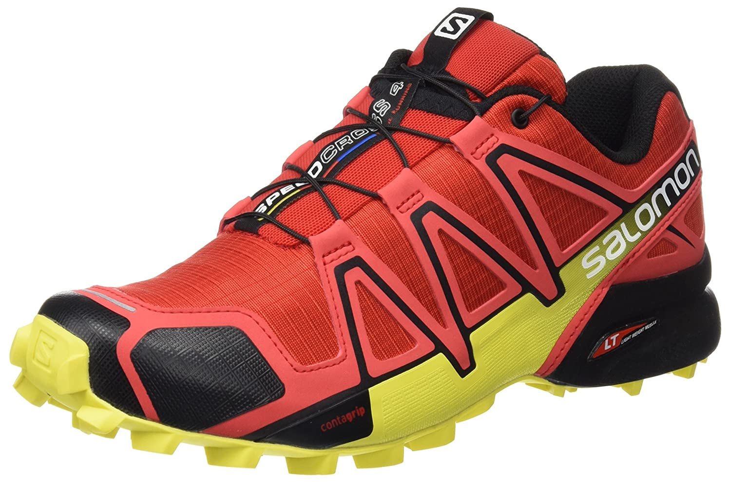 Salomon Herren Speedcross 4 Traillaufschuhe  48 EU|Radiant Red/Black/Corona Yellow