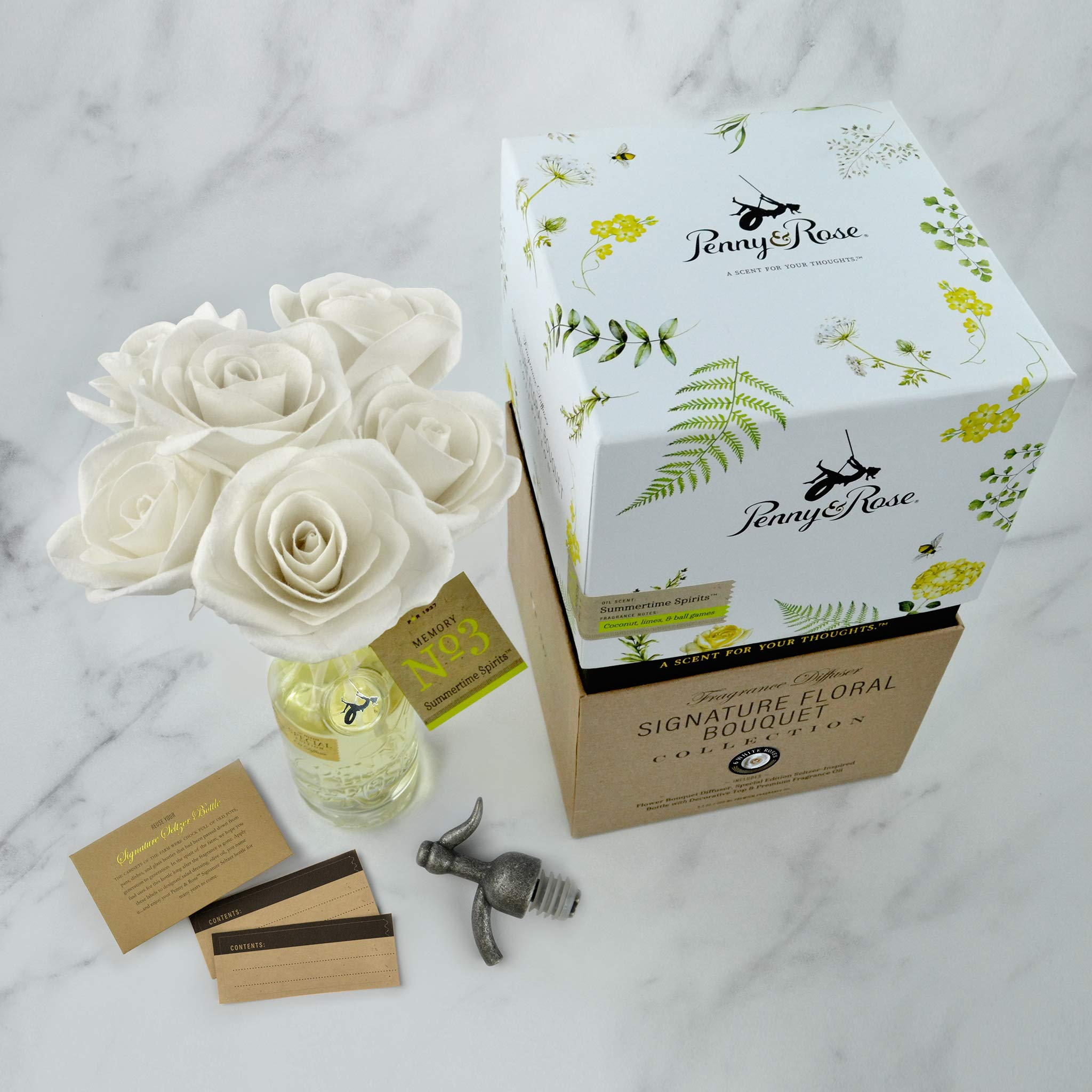 Penny & Rose White Rose Floral Diffuser | Summertime Spirits Oil Scent by PENNY AND ROSE (Image #4)