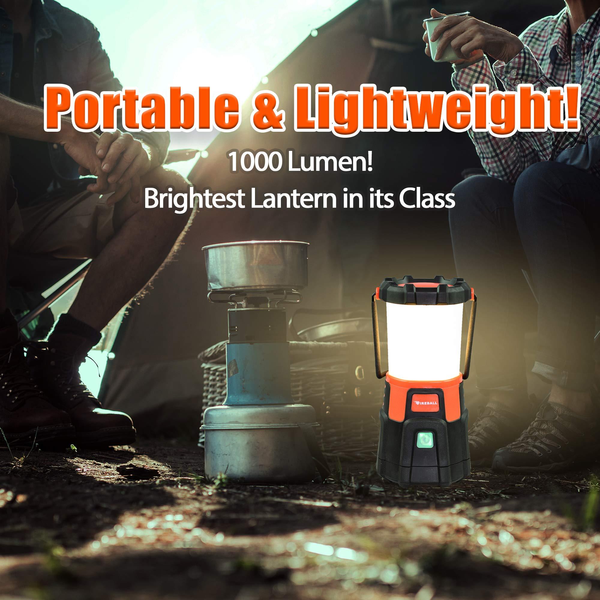 Blazin' Fireball | Brightest Lanterns Battery Powered | LED Hurricane Lantern | Emergency, Storm, Camping Torch | Battery Operated Lights | 1000 Lumen Lantern by Blazin' Bison (Image #5)
