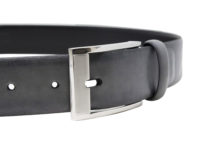 100/% Italian Leather Top Grain Riverside Men/'s Classic Sleek Dress Belt Color Safe on Dress Pants.