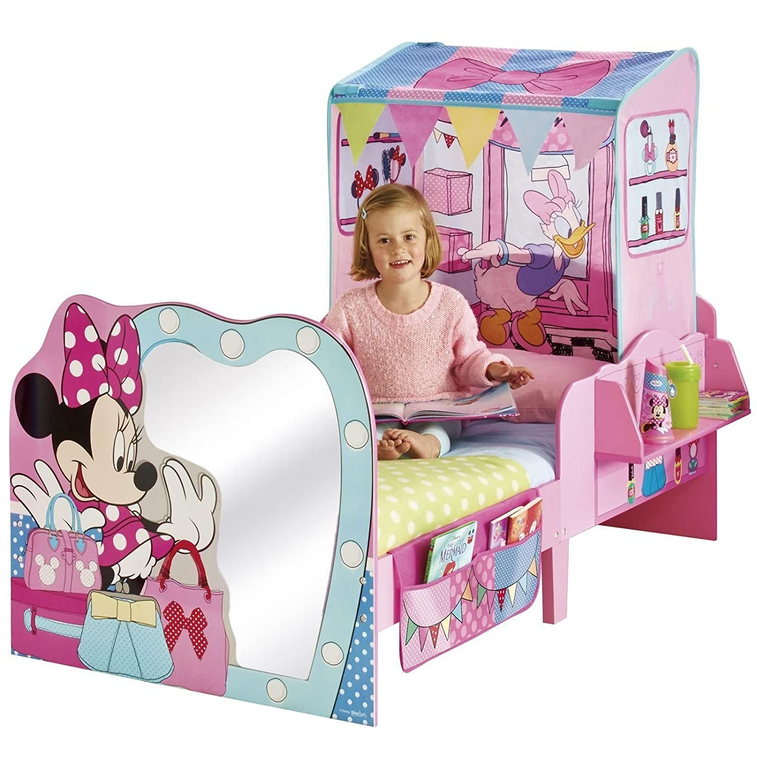Minnie Mouse Startime Toddler Feature Bed Deluxe Foam Mattress Amazoncouk Toys Games
