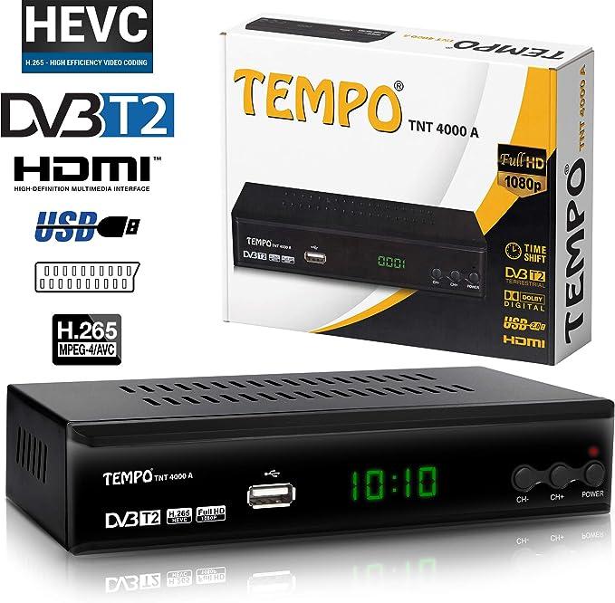 Tempo 4000 Decodificador Digital Terrestre – DVB T2 / HDMI Full HD ...