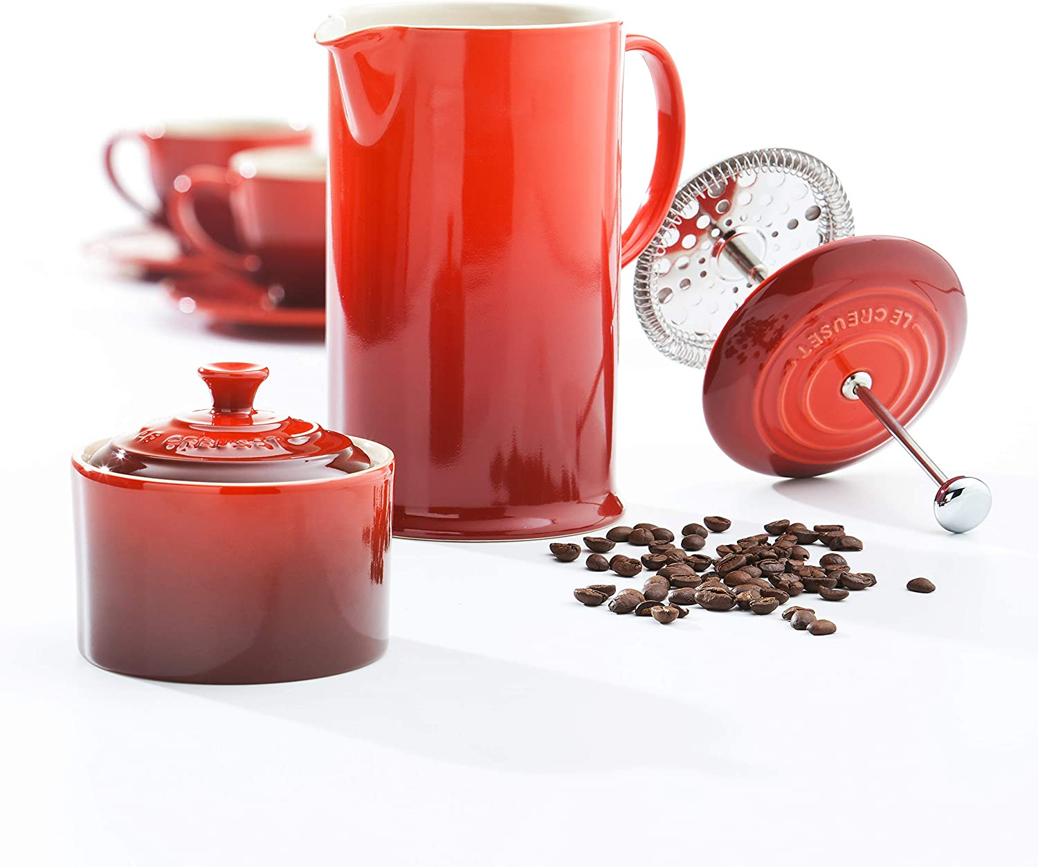 Le Creuset Stoneware Cafetiere Cerise Red