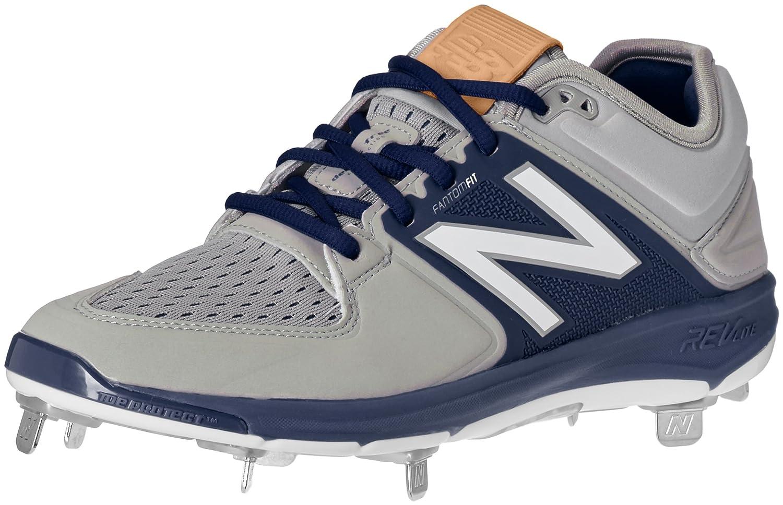 (ニューバランス) New Balance メンズ L3000v3 野球スパイクシューズ B01CQSWGAA 9.5 2E US|グレー/ネイビー グレー/ネイビー 9.5 2E US