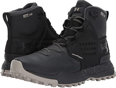 Under Armour Mens Newell Ridge Mid Reactor Hiking Boots Black Black 8 D