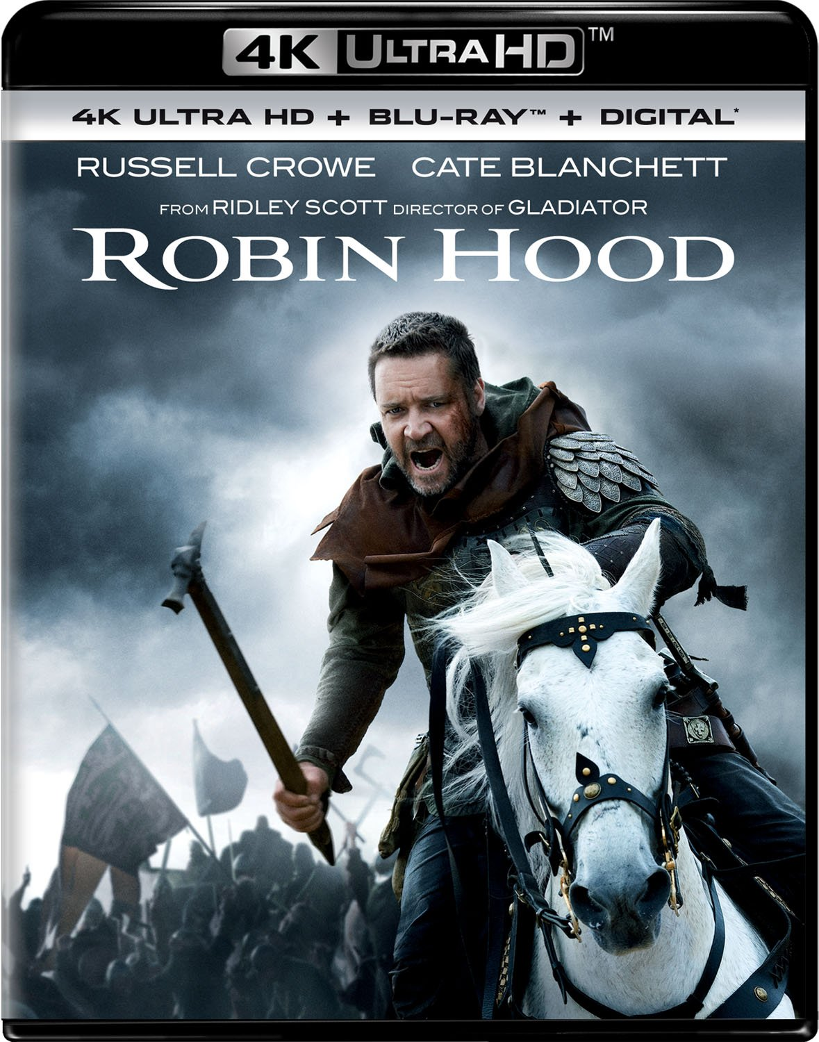 4K Blu-ray : Robin Hood (With Blu-ray, 4K Mastering, Director's Cut / Edition, Digital Copy, 2 Pack)