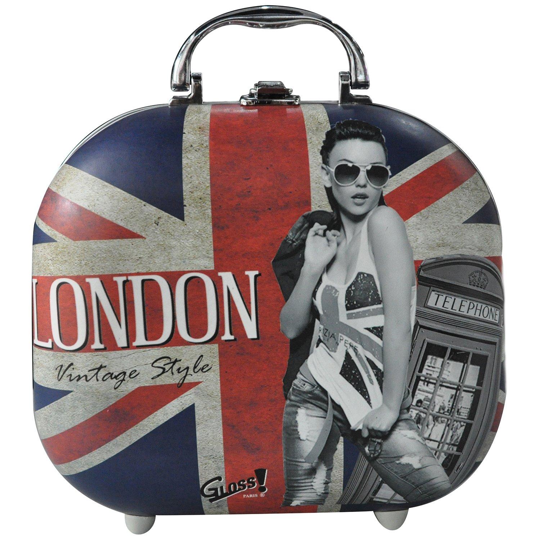 Gloss! Mallette de Maquillage London Vintage Style 48 Pièces, Coffret Cadeau-Coffret Maquillage MC1134-UK14