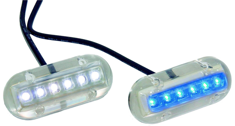 IP68 2.5W LED Unterwasserbeleuchtung f/ür Boote 12V 2.5W blue