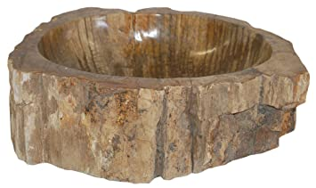 Nice Eden Bath S028PW P Natural Stone Sink   Petrified Wood