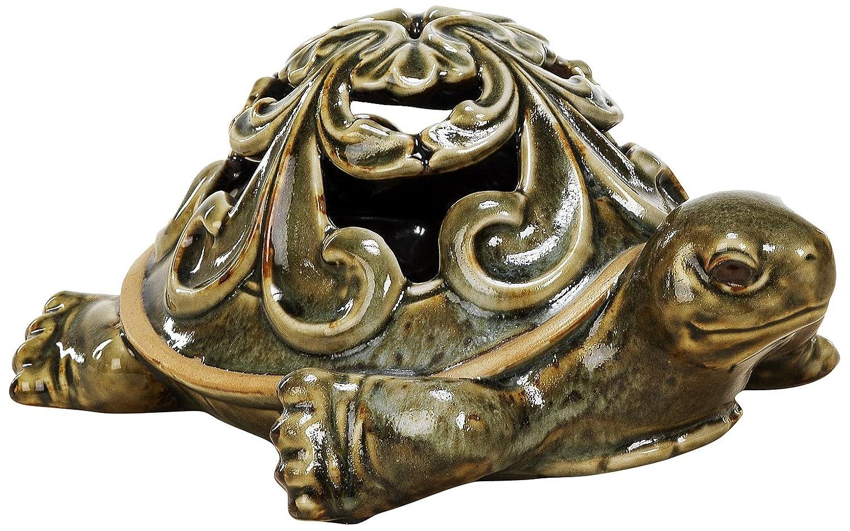 Sunny Toys 12540 - Portacandela antivento in porcellana a forma di tartaruga, 20 cm circa