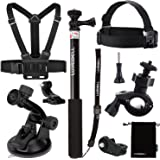 Luxebell Accessori Kit per Sony Action Camera HDR-AS15 AS20 AS30VE AS50 AS100V AS200VR HDR-AZ1 Mini FDR-X1000VR 4K (7-in-1)