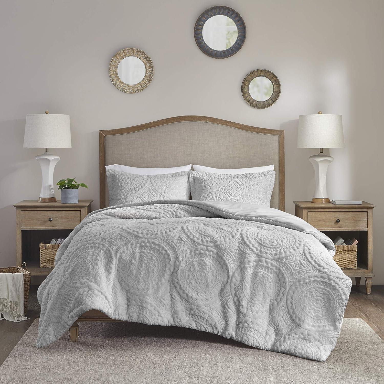 Madison Park Arya Modern All Season Down Alternative Bedding Set with Matching Sham, Twin, Grey