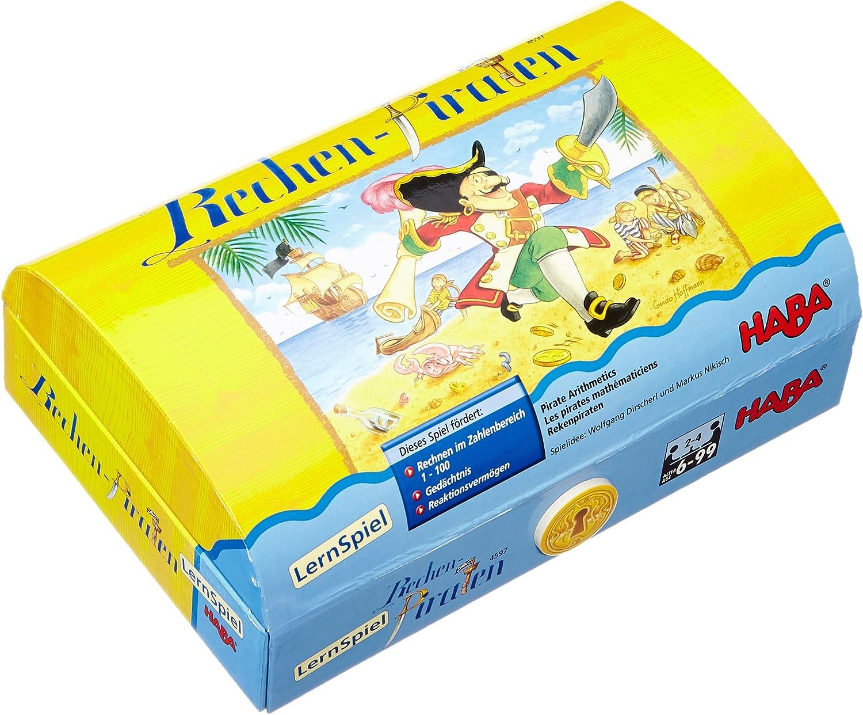 HABA 4597 Los Piratas matemáticos - Juego de Mesa (en alemán): Amazon.es: Juguetes y juegos