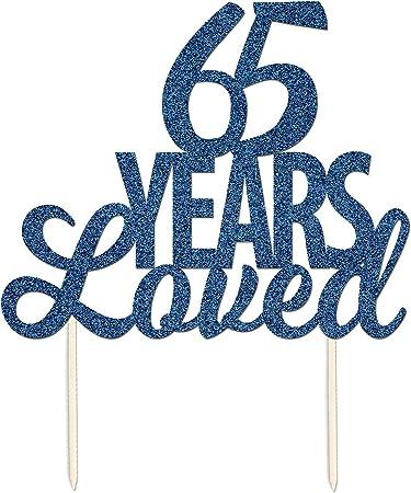 65 Anniversario Di Matrimonio.65 Anni Amato Il Anniversario Di Matrimonio Glitter Cake Topper