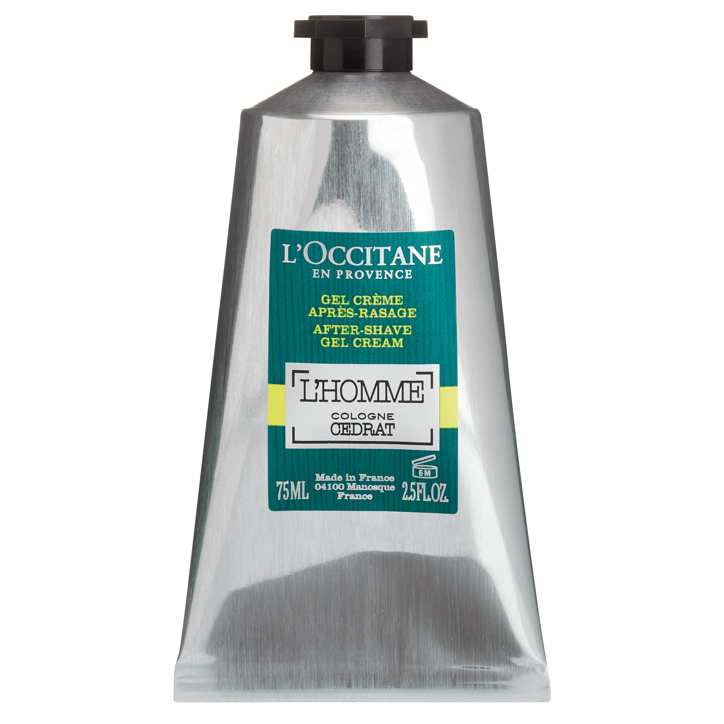 L'Occitane Zesty & Aquatic L'homme Cologne Cedrat Gel-Cream After-shave, 2.5 Fl. oz.