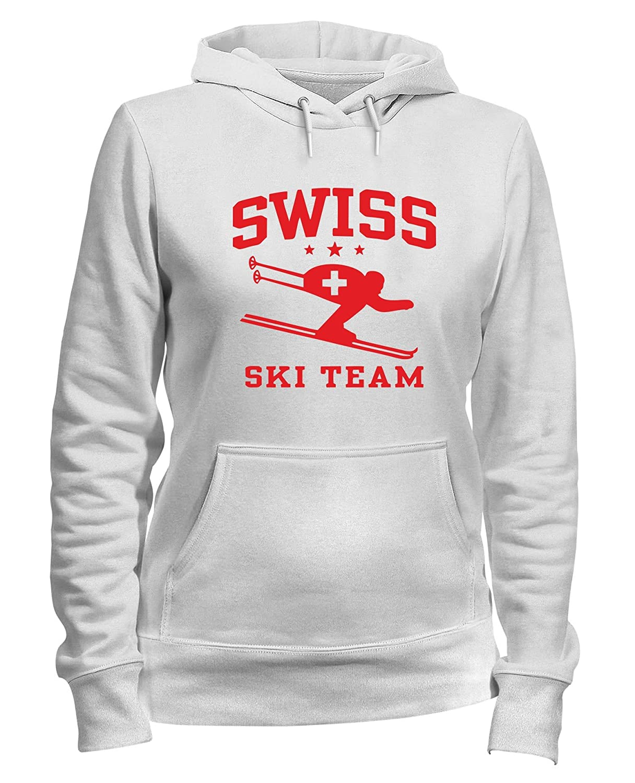 Speed Shirt Felpa Donna Cappuccio Bianca OLDENG00261 Swiss Ski Team