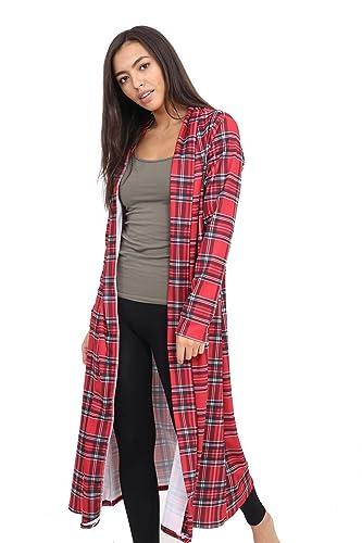 GK, clothing – Chaqueta – para mujer multicolor Tartán Rojo