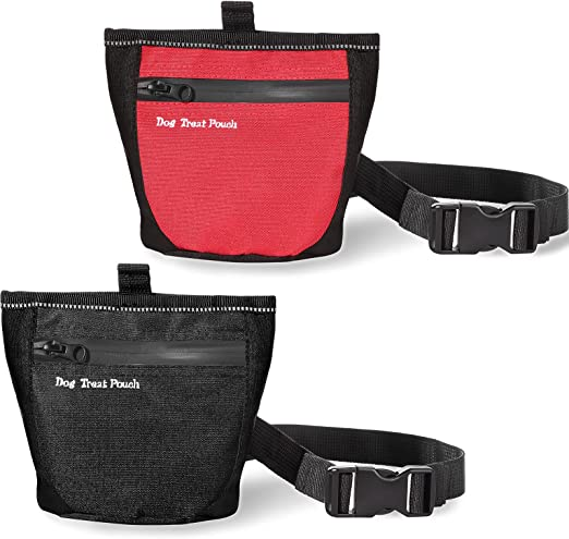 Frienda 2 Pieces Dog Treat Pouch Dog Training Carrier Holder Bait Pouch, Reward Pouch Puppy Training Snack Bag Treat Pouch with Magnetic Closure, Clip Waist Belt