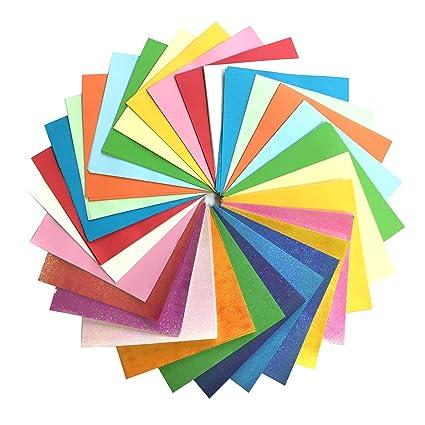 Onepine Origami Papier 15 x 15 cm 200 Blatt Farben Faltpapier f/ür Weihnachts-Origami Papier DIY Kunst und Handwerk Projekte,50 Farben