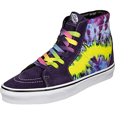 Vans U SK8-HI (VMO) (TIE DYE) Mysterioso/True White | Fashion Sneakers