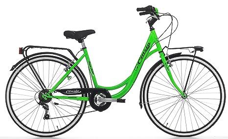 Bicicletta Cicli Cinzia Neon Da Donna Con Telaio In Acciaio Cambio