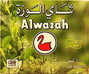 Alwazah green tea, 100-bag box, 200-g