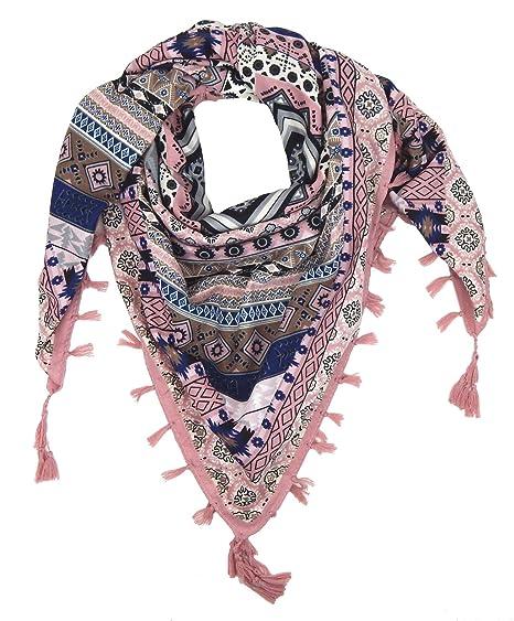 131eb7347357 Ella Jonte Foulard Écharpe triangle pour femme élégant et tendance de la  dernière collection rose bleu