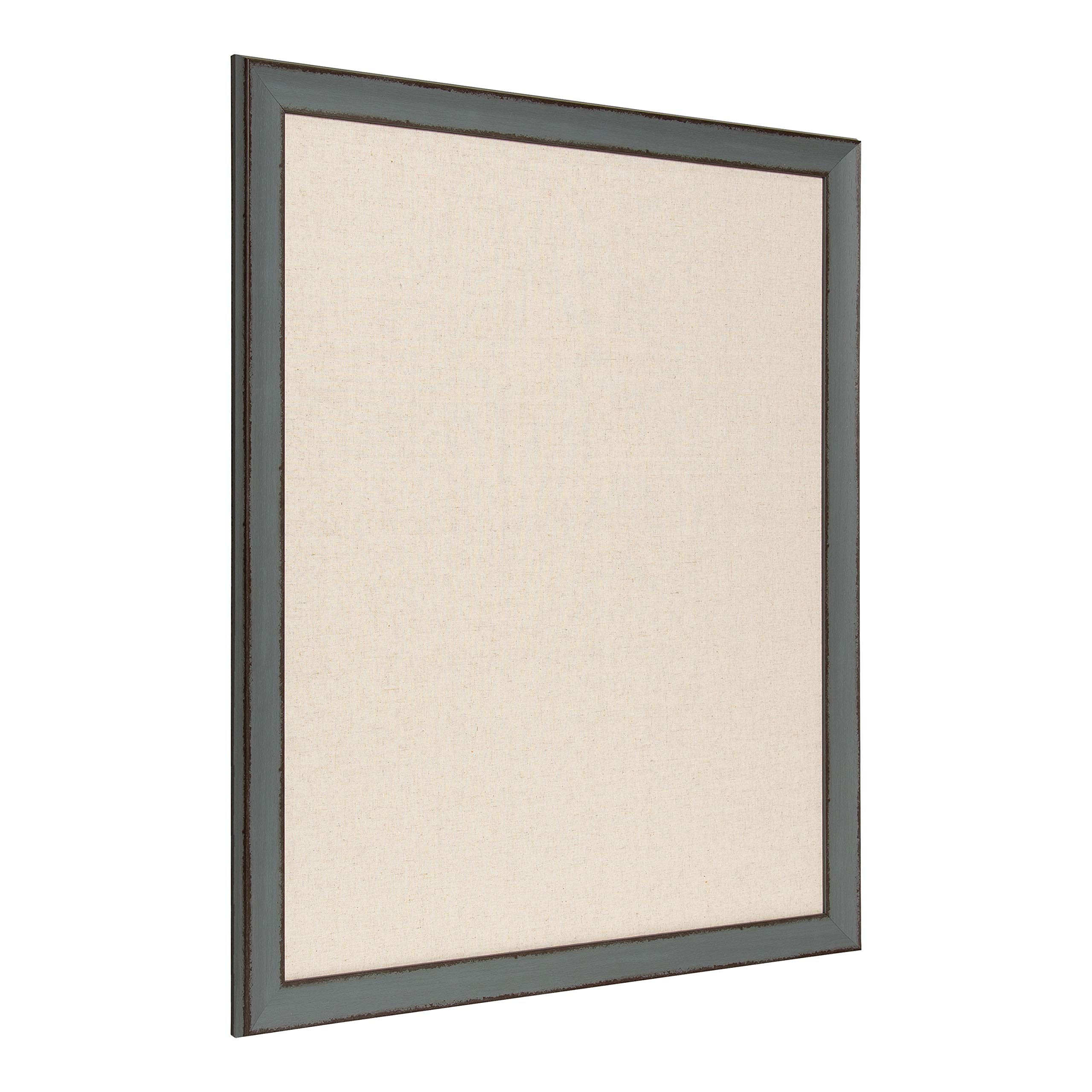 Kate and Laurel Kenwick Framed Linen Fabric Pinboard, 27x33, Gray Green by Kate and Laurel (Image #2)
