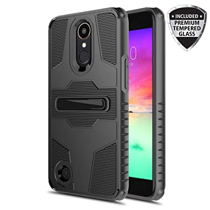 Townshop LG Aristo 3 Case, Heavy Duty Shockproof Case with Built-in  Kickstand for LG Aristo 2/Tribute Dynasty/Risio 3/Rebel 3/Rebel 2/Fortune  2/Risio