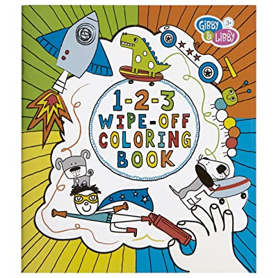 C.R. Gibson Gibby & Libby 1-2-3 Wipe-Off Coloring Book for Boys: Toys & Games
