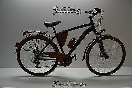 Bicicleta de paseo bicicleta City-Bike TRK 28 al hombre negro ...