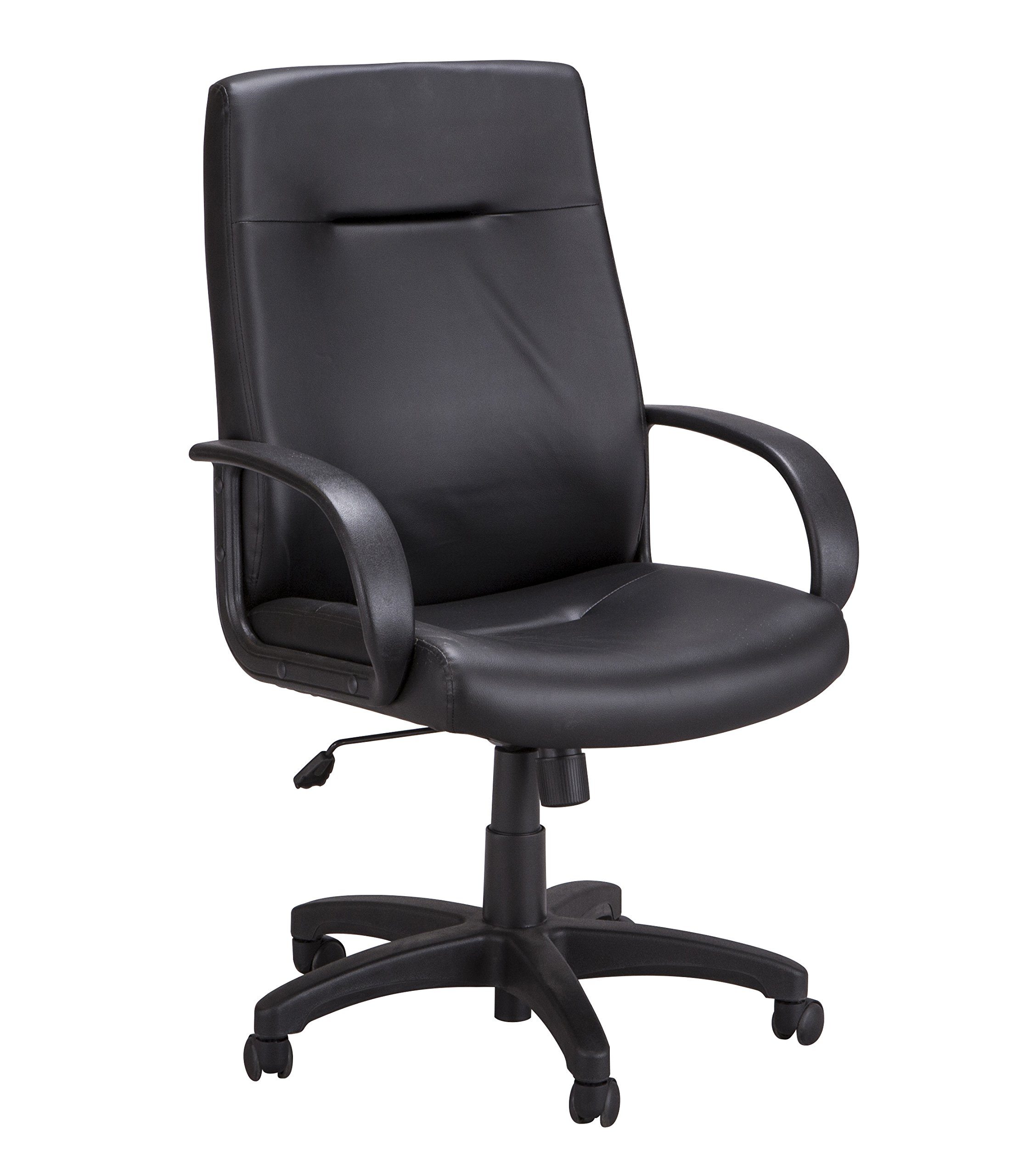 Safco Products 6300BV Poise Executive High Back Chair, Black Vinyl