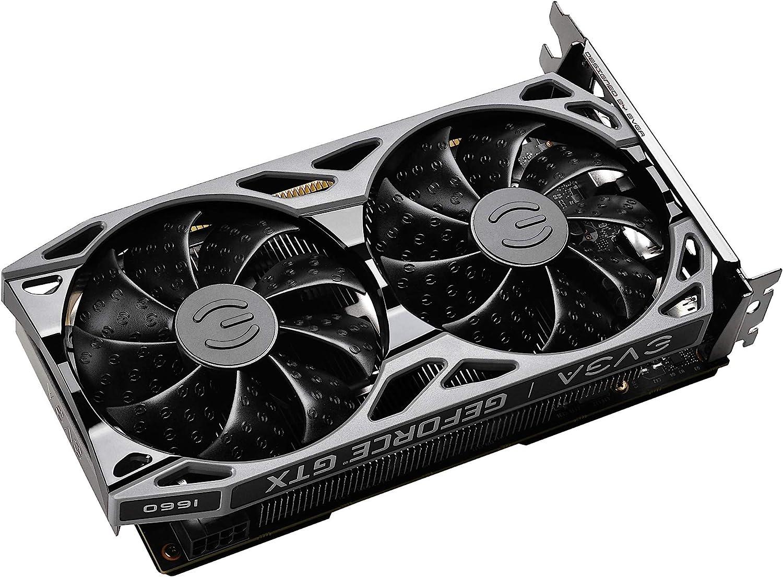 EVGA GeForce GTX 1660 SC Ultra Gaming Metal Backplate Dual Fan 06G-P4-1067-KR 6GB GDDR5