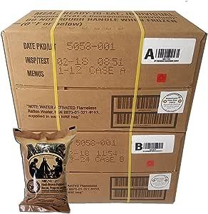 Ultimate MRE Case A y Case B Bundle, 24 comidas con fecha de ...