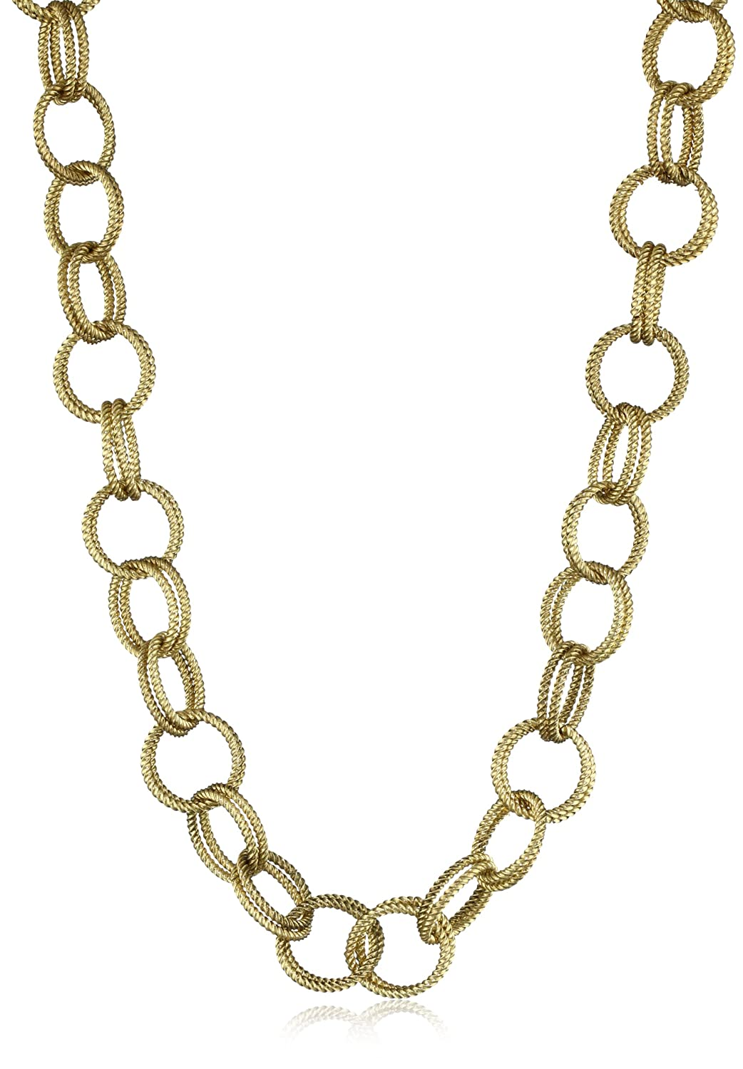 Goldkette gangster png  Amazon.com: Betsey Johnson Gold-Tone Textured Chain-Link Long ...