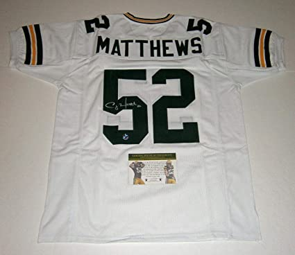 buy online b2e29 378ff Clay Matthews Signed Jersey - w/ #52 COA HOLO - Autographed ...