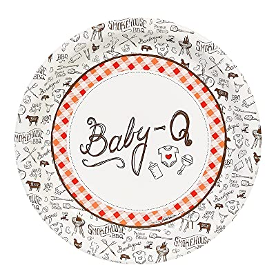 "Baby Shower Summer BBQ Baby-Q Party 9"" Dinner Plates Pack (24): Toys & Games"