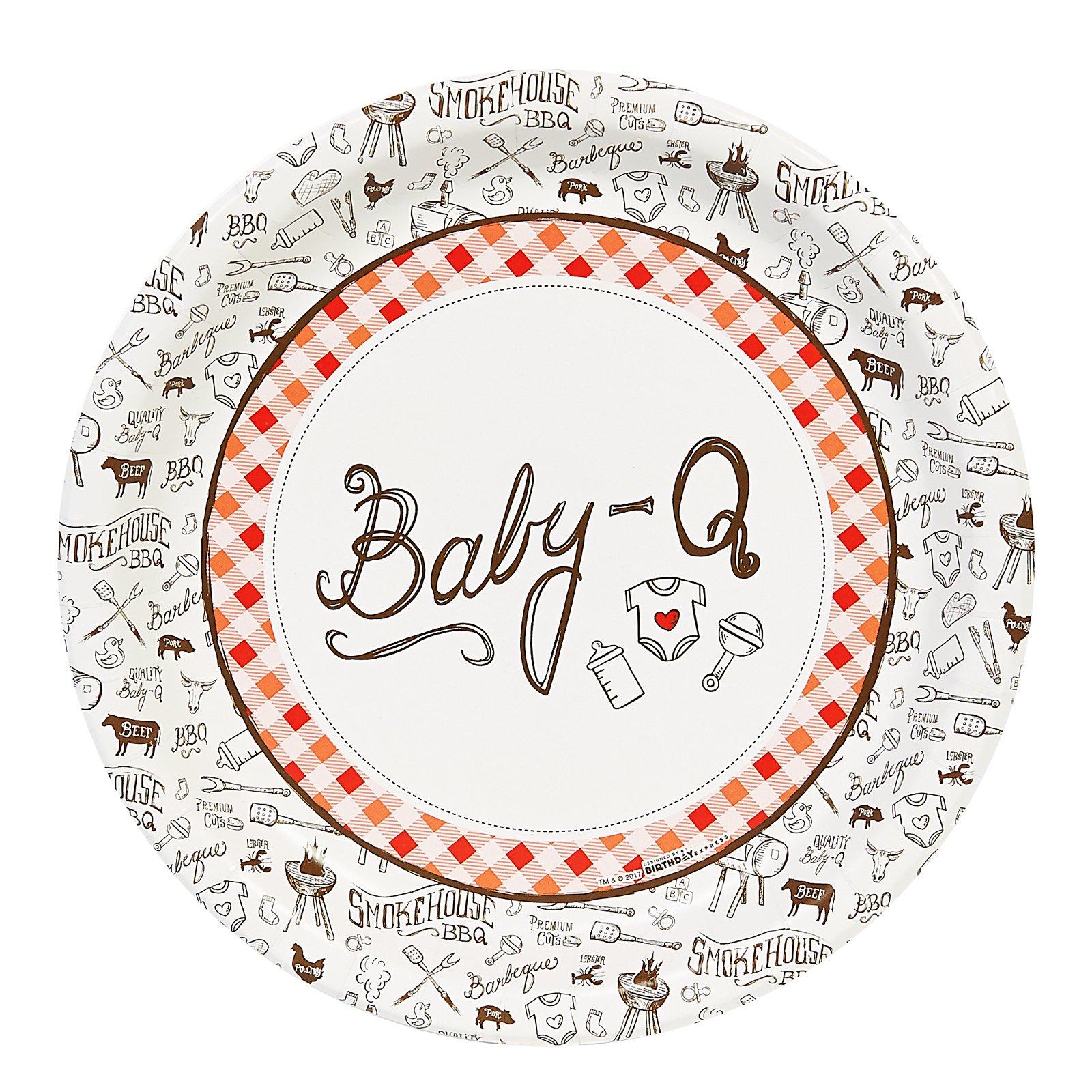 Baby-Q Dinner Plate (48) by BirthdayExpress