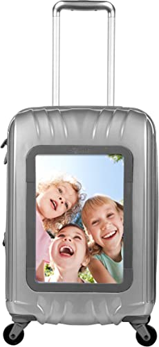 Travelers Club 20 Personalized Carry On W 360 Degree 4-Wheel System, Silver, One Size