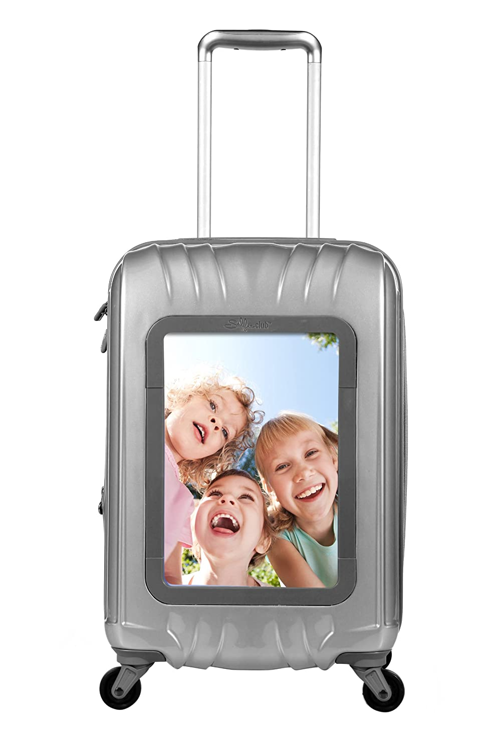 Selfie Club 20 Inch Personalized Carry On with 360 Degree 4 Wheel System, Silver, One Size Travelers Club Luggage SF-41020-010