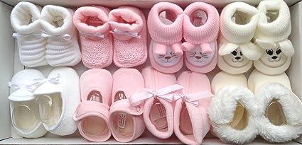 Patucos Bebe Niña 8 Pares De Punto Bebe y Tacto Terciopelo en Color Rosa ¡100 % GARANTIA DE DEVOLUCION DE SU DINERO!