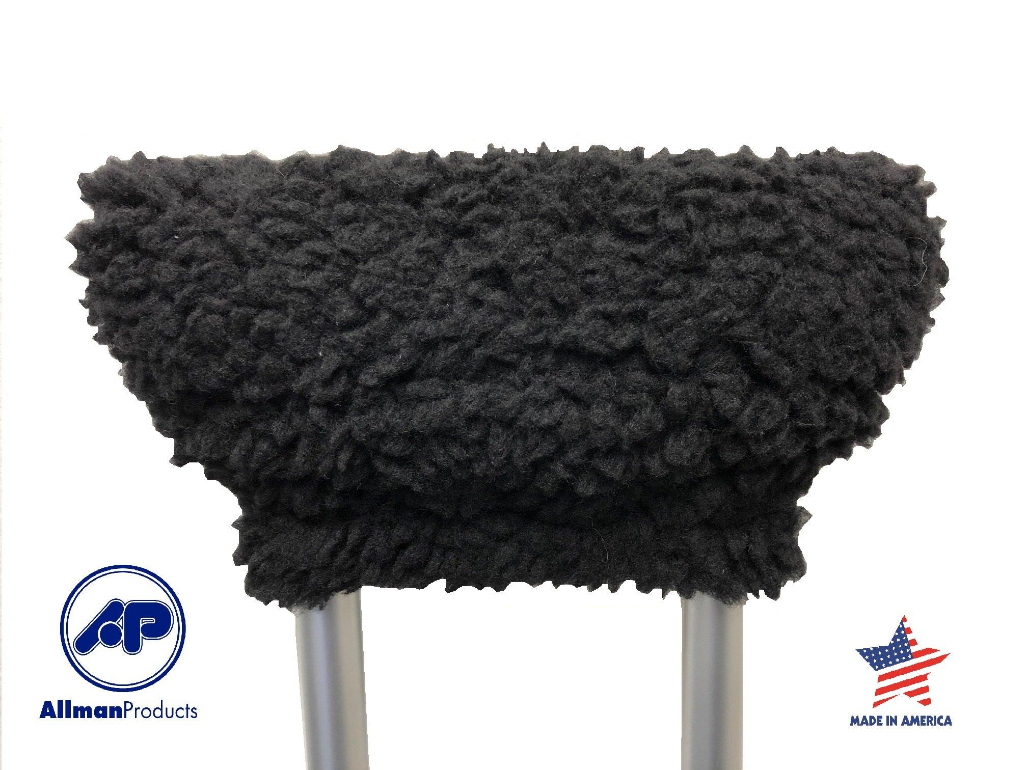 Allman Premium Black Fleece Crutch Arm Cushion (pair)